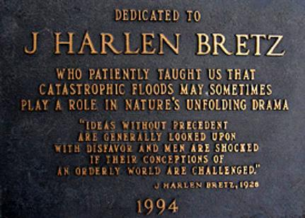 an overview of the j harlen bretzs great flood theory Like great scars marring the otherwise fair face of the plateau are these  j harlen bretz and joseph  pardee published unusual currents in glacial lake missoula.